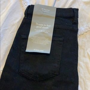 Brand New Everlane High Rise Skinnies in Black!
